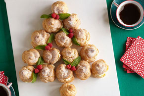 Lemon Custard-Cream Puff Tree