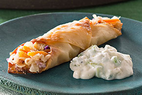 Buffalo Chicken Egg Roll Minis