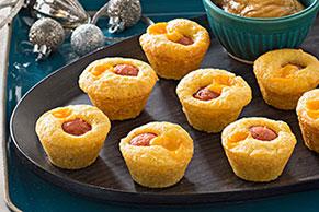 Mini muffins de elote con salchicha