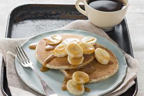 Caramel-Banana Pancakes