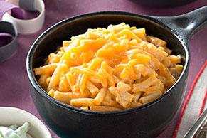 Elegantes macarrones con queso