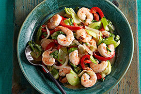 Bok Choy Stir-Fry with Shrimp