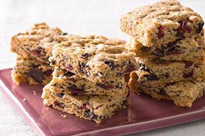 Cranberry-Chocolate Peanut Butter Bars