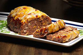 Barbecue-Bacon Cheeseburger Meatloaf