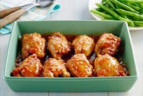 BBQ Glazed Chicken Thighs