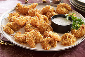 Crispy Coconut-Shrimp Appetizers