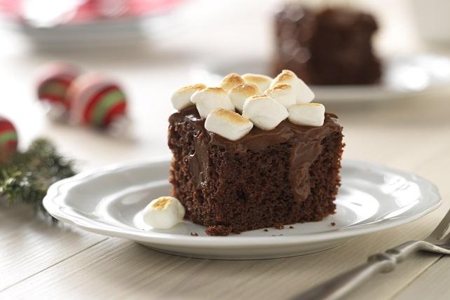 Toasted Marshmallow-Chocolate Pudding Cake Image 1