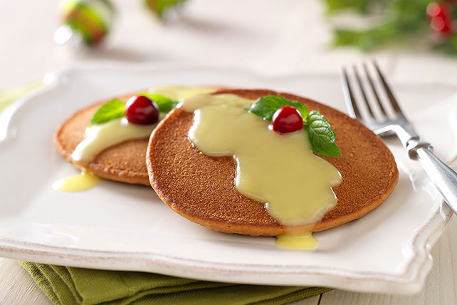 Gingerbread Pancakes with Warm Lemon Sauce Image 1