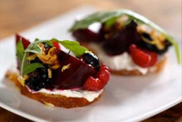 Chef CJ's Roasted Beets with Cream Cheese Image 1