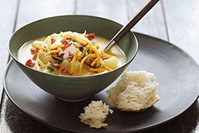 Sour Cream & Onion Triple-Cheddar Potato Soup