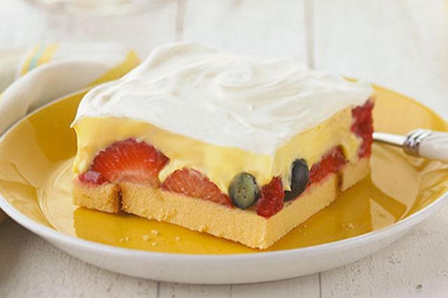 Strawberry-Ladyfinger Dessert Squares Image 1