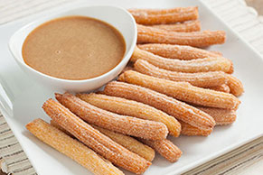 Churros with Caramel Dipping Sauce