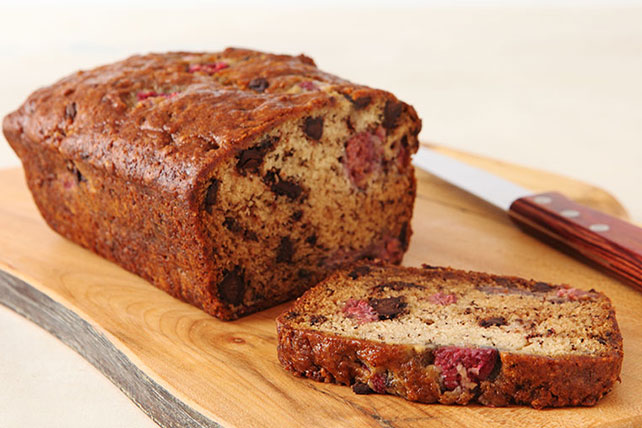 Raspberry-Chocolate Banana Bread