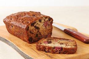 Raspberry-Chocolate Banana Bread