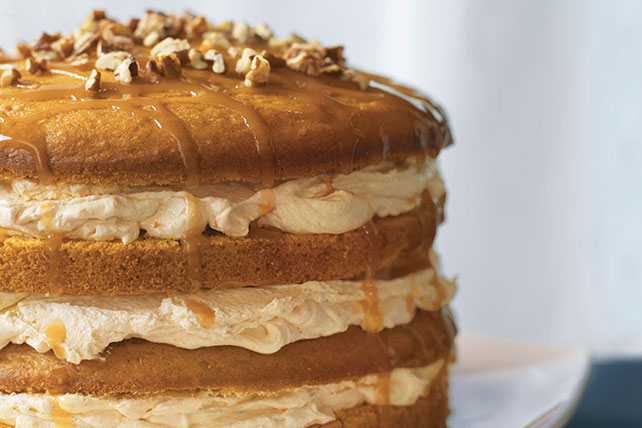 Smart-Choice Luscious Four-Layer Pumpkin Cake