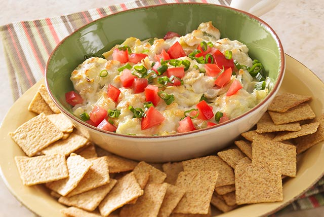 HEALTHY LIVING Hot Artichoke-Zucchini Dip Image 1