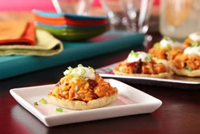 Mini BBQ Chicken Sopes