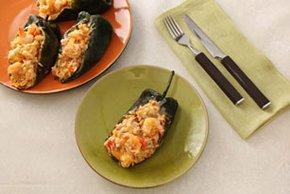 Creamy Shrimp & Chorizo Chiles Rellenos