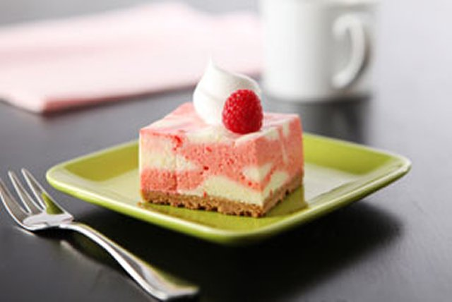 Raspberry-Lemon Mousse Squares