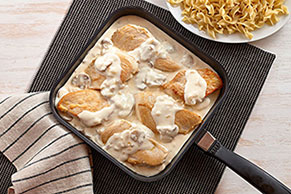 Skillet Chicken Breasts in Mushroom Sauce