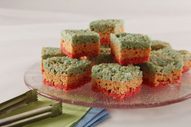 Rainbow Crispy Treats Image 1