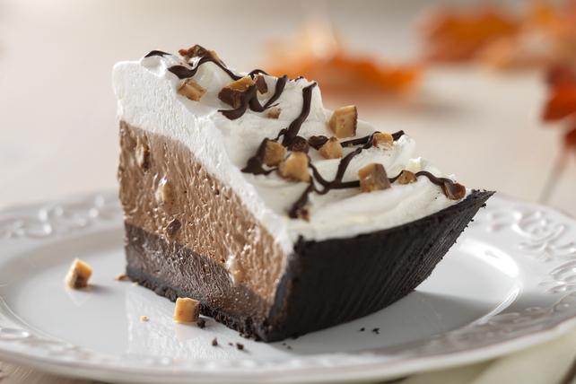 Tarte au fondant au chocolat et aux bonbons croquants Image 1