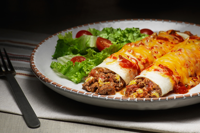 Cheesy Ground Beef Enchiladas