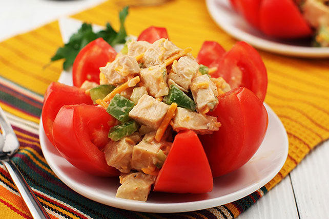 Creamy BBQ Southwest Chicken Salad for Two