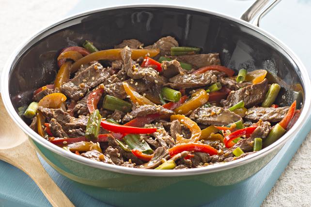 Sauté de bœuf et poivrons grésillants Image 1