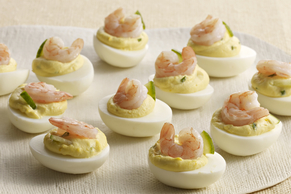 Devilled Eggs with Shrimp