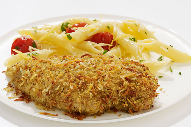 Crispy Garlic Chicken with Lemon Pasta Image 1