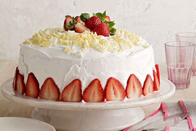 White Chocolate-Strawberry Tres Leches Cake Image 1