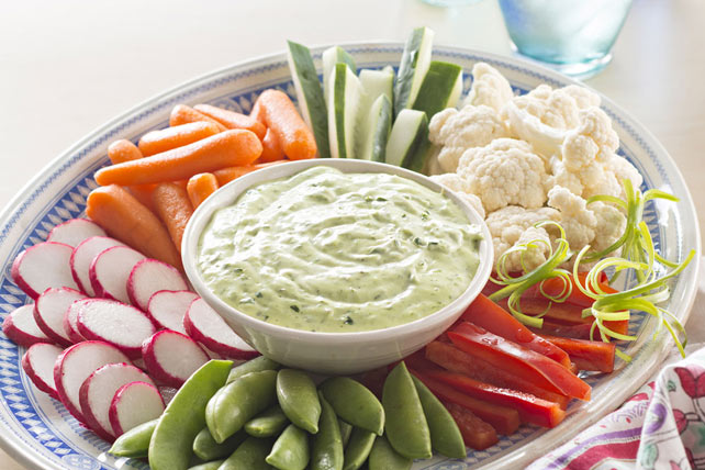 Green Goddess Dip with Spring Vegetables Image 1