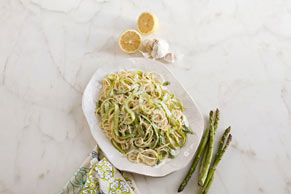 Creamy Lemon Pasta with Shaved Asparagus