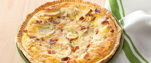 Potato & Bacon Quiche