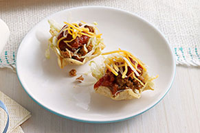 Mini Taco Salad Appetizers