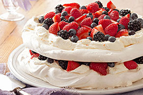Layered Berry Pavlova