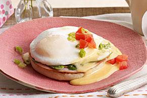 Huevos benedictinos frescos y fáciles