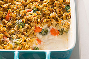 Crispy-Topped Carrot & Broccoli Bake