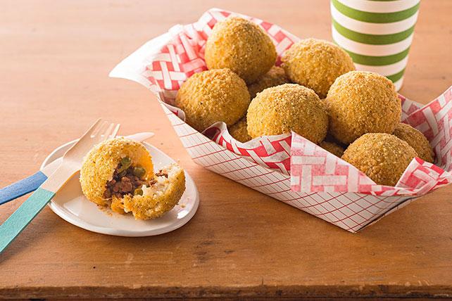 Beef-Stuffed Rice Balls Image 1