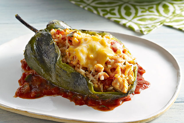 Stuffed Poblano Peppers Image 1