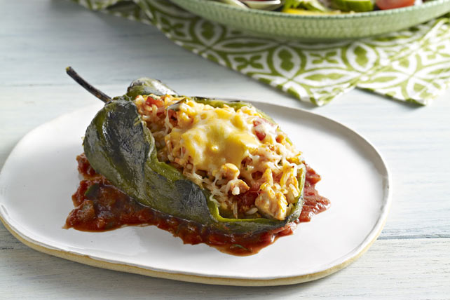 Stuffed Poblano Peppers (Chiles Rellenos) Image 1