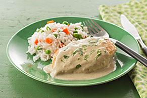 Cremoso pollo en salsa verde