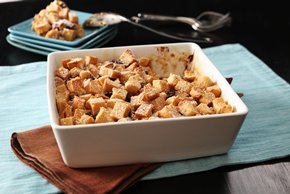 Chocolate & Peanut Butter Bread Pudding
