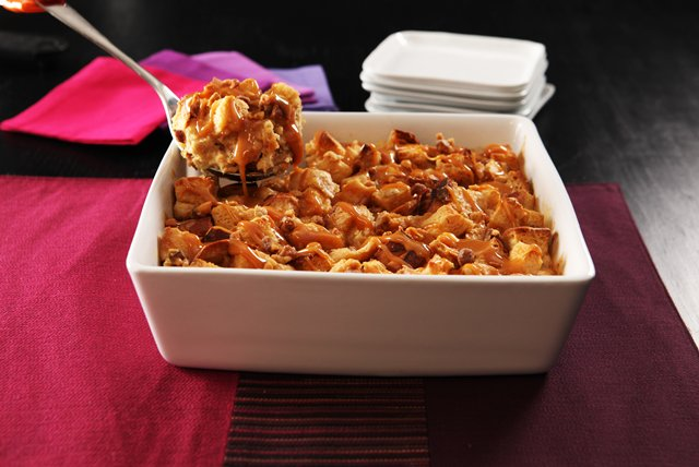 Banana-Peanut Butter & Caramel Bread Pudding Image 1