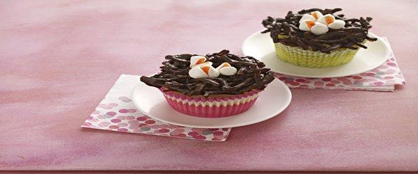 Mini Cheesecake Birds' Nests