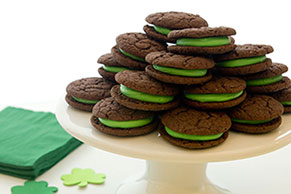 Chocolate-Mint Sandwich Cookies
