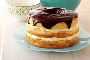Easy Layered Boston Cream Pie