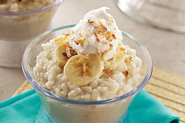 Cremoso arroz con leche de coco y plátano Image 1
