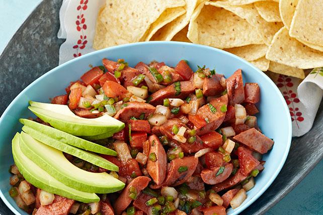 Salchichas con salsa de chiles jalapeños Image 1
